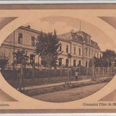 CRAIOVA, GIMNAZIUL FIILOR DE MILITARI, CIRCULATA DEC. ''913 - Carte Postala Oltenia 1904-1918, Printata