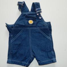 Salopeta, compleu, sarafan, romper blugi, 3-9 luni, 62 cm, Culoare: Albastru, Unisex