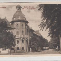 OLTENIA, CORABIA, HOTEL TRAIAN, STR. I.C. BRATIANU, CIRCULATA - Carte Postala Oltenia dupa 1918, Printata