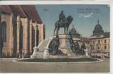 CLUJ, STATUIA  LUI  MATEI  CORVIN, Necirculata, Printata, Cluj Napoca