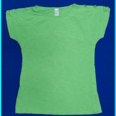 DE FIRMA → Tricou FRUMOS, din bumbac, marca ZARA → fete | 13—14 ani | 164 cm, Marime: Alta, Culoare: Verde