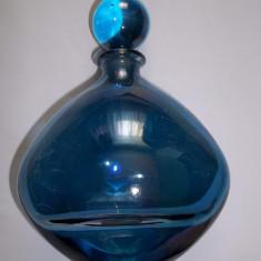 Sticluta din cristal cu capac Italia - Arta din Sticla