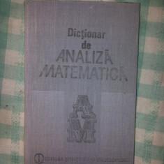 Dictionar de analiza matematica Cristescu R.