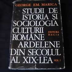STUDII DE IST. SI SOC . CULTURIIROMANE ARDELENE-SEC XIX-GEORGE MARICA-VOL1- - Roman istoric