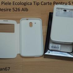 Husa Piele Ecologica Tip Carte Pentru S View Htc Desire 526 Alb - Husa Telefon