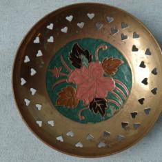 Fructiera din bronz cu design deosebit-17x4 cm - Metal/Fonta