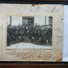OFITERII REGIMENTULUI 6 ROSIORI BALTI-FOTOGRAFIE MARE PE CARTON ANII 30, Militar