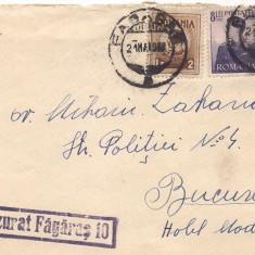 % plic scrisoare-Cenzura Fagaras 10, An: 1948
