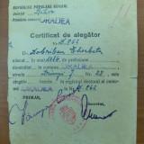 Certificat de alegator Oradea -RPR, Europa, Documente