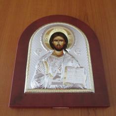 Icoana argintata Mantuitorul Iisus Hristos - Icoana din metal