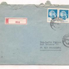 % plic-Scrisoare recomndata intre 2 mari filatelisti romani, An: 1983