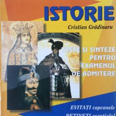 ISTORIE TESTE SI SINTEZE PENTRU EXAMENUL DE ADMITERE - Carte Teste Nationale