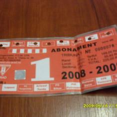 Abonament UTA 2008-2009 - Bilet meci