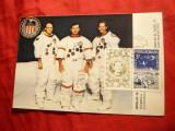 Maxima FDC Cosmos -Apollo 16 ,autograful cosmonautilor pe spate - Vocea Americii