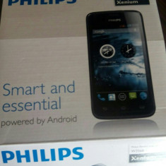 Philips xenium W3568 - Telefon mobil Dual SIM, Gri, 4GB, Neblocat, Dual SIM, Dual core