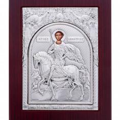 Icoana argint Sfantul Dumitru - Icoana din metal