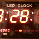Ceas digital pentru sali de fitnes cu indicator temperatura - Ceas de perete