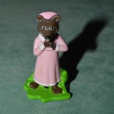 Figurina, jucarie ou Kinder surprise, lup din Scufita Rosie, plastic, 5 cm - Figurina Desene animate