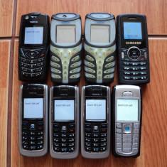 Lot telefoane mobile ! Pachet telefoane mobile ! 7 X Nokia + 1 x Samsung !, Negru, Neblocat