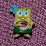 Figurina Sponge Bob, fetita cu chitara, din surpriza ou Kinder, 2004, colectie