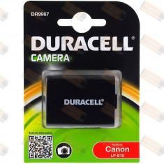 Acumulator Duracell compatibil Canon EOS 1100D - Baterie Aparat foto Duracell, Dedicat