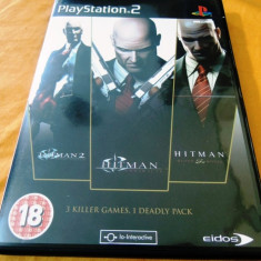 Joc Hitman Triple Play, PS2, original, alte sute de jocuri! - Jocuri PS2 Eidos, Actiune, 18+, Single player