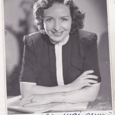 Bnk cp Poza cu dedicatie Silvia Dumitrescu Timica - Autograf