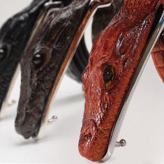 Curea piele naturala pafta crocodil M1 (4culori) curele barbati catarama +CADOU! - Curea Barbati, Marime: Alta, Culoare: Din imagine, curea si catarama