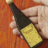 Termometru de vin in suport / cutie de lemn in forma se sticla - model deosebit