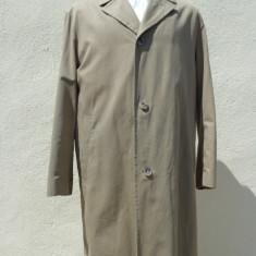 Trench Hugo Boss 100% original - Palton barbati, Culoare: Bej, Bumbac