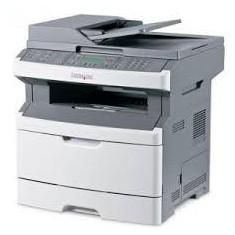 Mutifunctionale laser Lexmark x364dn, placa retea, copiator, scaner, imprimanta - Imprimanta laser alb negru Lexmark, A4