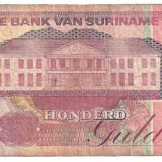 SURINAME 100 GULDEN 1991 U - bancnota america