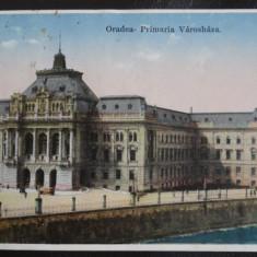 Vedere/Carte postala - Oradea - Primaria - Circulat - Carte Postala Bucovina dupa 1918, Necirculata
