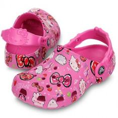Saboti Crocs Classic Hello Kitty good Time clog (CRC15780 ) - Papuci copii Crocs, Marime: 33.5, Culoare: Roz