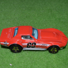 Macheta Masinuta Hot Wheels metal 2010 Mattel, '69 COPO, Corvette, Thailand, TM GM T9674