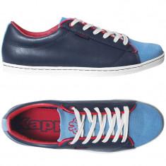 Adidasi Kappa-piele naturala-adidasi barbati originali-in cutie-40, 40 2/3, Culoare: Albastru
