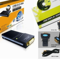 Placa video pe usb, USB 2.0 UGA la DVI VGA HDMI - Placa video PC