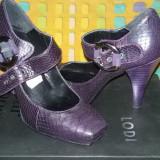 Vand pantofi piele dama - Pantof dama, Culoare: Mov, Marime: 35, Piele naturala