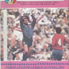 Regia fotbalistica Program fotbal Sportul Studentesc-Dinamo (1988) - Program meci