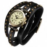 Ceas Dame Vintage Antic Tip Bratara Elegant Piele Naturala | CEL MAI MIC PRET - Ceas dama, Casual, Quartz, Carbon, Cauciuc, Cronograf