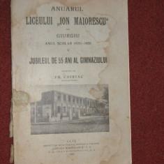 Anuarul Liceului Ion Maiorescu din Giurgiu (1924-1928)- 4 vol.