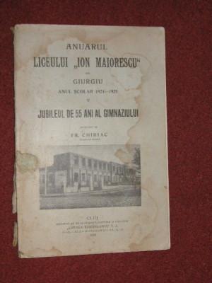 Anuarul Liceului Ion Maiorescu din Giurgiu (1924-1928)- 4 vol. foto