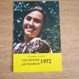 CCO - CALENDAR DE COLECTIE - TEMATICA FOLCLOR - ANUL 1972 - Calendar colectie