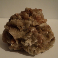 Floare mina Cuart roz - Fosila roca, Naturala