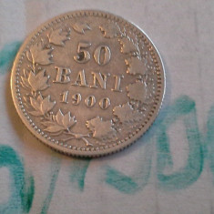 50 bani 1900 6 de colectie frumos - Moneda Romania