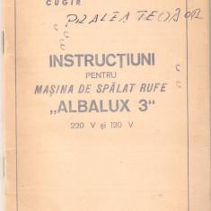 Carte tehnica pentru masina de spalat Albalux 3 - Carti Electronica