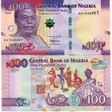 !!! NIGERIA - 100 NAIRA 2014, COMM - P 41 - UNC // 100 DE ANI DE EXISTENTA - bancnota africa