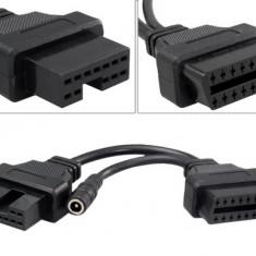Cablu adaptor 12 Pin la 16 Pin OBD2 pentru Mitsubishi / Hyundai