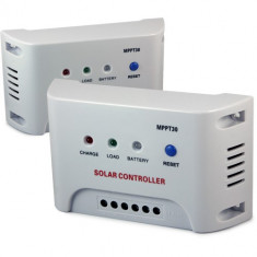 REGULATOR CONTROLER SOLAR MPPT 30 A Panouri fotovoltaice 12/24 V + SET MC4