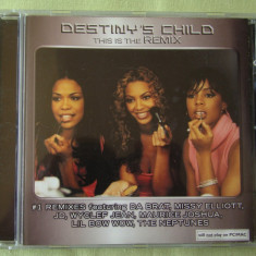 DESTINY'S CHILD - This Is The Remix - C D Original ca NOU - Muzica Dance sony music